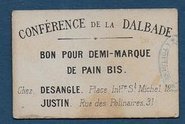 Toulouse - Conférence De La Dalbade - BON Pour Demi Marque De Pain Bis - Bons & Nécessité