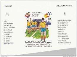 Comores Nº Michel 614 Al 618 En Hojas Sobrecargadas - 1982 – Espagne