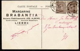 "CPA / Postcard / Artist / Reclame / Margarine Brabantia / Jos. Albers / Lierre / Lier / 1924 / 2 Scans / ""the Angler"" - Lier"