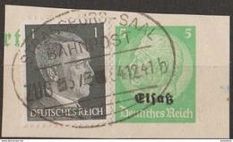 France Guerre 1939-40 N° 10 Occupation Allemande Alsace Affranchissement Mixte Sur Fragment (cf) - Wars