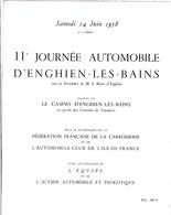 Programme 11 Eme Journée Automobile D Enghien Les Bains L équipe Automobile Club De L île De France Juin 1958 - Programs