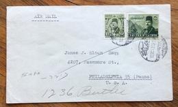 EGITTO  ENVELOPE COVER PAR AVION   FROM PORT SAID  TO  PHILADELPHIA   U.S.A.   1947 - Ägypten