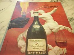 ANCIENNE PUBLICITE FINE CHAMPAGNE COGNAC REMY MARTIN 1960 - Alcohols