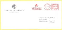 ITALIA - ITALY - ITALIE - 2002 - 00,41 EMA, Red Cancel - Comune Di Coriano - Viaggiata Da Coriano Per Lugo - Affrancature Meccaniche Rosse (EMA)