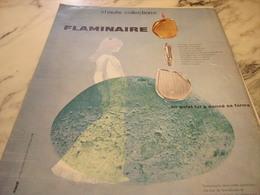ANCIENNE PUBLICITE HAUTE COLLECTION BRIQUET  FLAMINAIRE 1960 - Tabac (objets Liés)