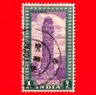 INDIA - Usato - 1949 - Torre - Victory Tower, Chittorgarh - 1 - 1947-49 Dominion