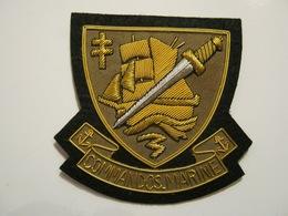 ECUSSON EN CANNETILLE DES COMMANDOS MARINE COMMANDO MARINE ETAT EXCELLENT - Navy