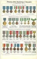"""2728 """" MEDAGLIERE NAZIONALE ITALIANO - MEDAGLIE """" CARTOLINA POSTALE ORIGINALE NON SPEDITA - Militaria"""