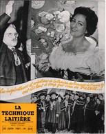 Journal La Technique Laitiere Chanson Des Fromages De France Fabia Gringor Confrerie Nationale Fromagère Juin 1961 - Programmes