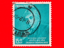 INDIA - Usato - 1958 - 100 Anni Della Nascita Di Jagadish Chandra Bose (1859-1937) - Botanico - 15 - 1950-59 Repubblica