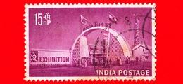 INDIA - Usato - 1958 - New Delhi Exhibition - 15 - 1950-59 Repubblica