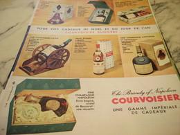 ANCIENNE PUBLICITE CADEAUX COGNAC  COURVOISIER   1960 - Alcohols