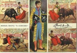 Manuel Benitez  ''El Cordobes'' -- Carte Brodée. - Corrida