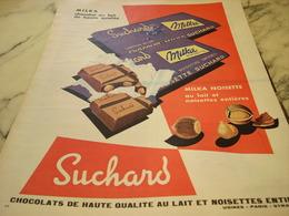 ANCIENNE PUBLICITE CHOCOLAT MILKA  SUCHARD 1960 - Affiches