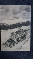 CPA SPORTS D HIVER EN BOBSLEIGH ED L MICHAUX DESSIN 1909 - Sports D'hiver