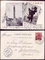 Turkei Turkey Turquie Salut De Constantinople B/w Postcard 1904 - Deutschland Levant Post 20 Para Send To Germany - Offices: Turkish Empire
