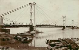 Pays  Div.-ref R541- Syrie - Syria - Carte Photo -photo Postcard - Deir El Zer - Ponts -pont Suspendu  -bridges -bridge - Syrie