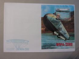 Cuba FDC Baron Ferdinand Von Zeppelin Wipa 2000 - Zeppelins