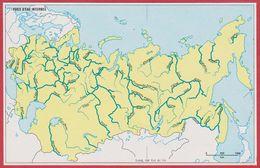 Principaux Fleuves En Russie. Encyclopédie De 1970. - Vieux Papiers