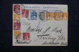 DANEMARK - Enveloppe D 'Hôtel De Copenhague En 1906 Pour Freiburg , Affranchissement Varié Plaisant - L 23308 - Briefe U. Dokumente