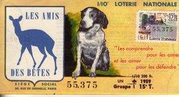 France - 151 -les Amis Des Bètes - 1959  15 ème Tranche - Loterijbiljetten