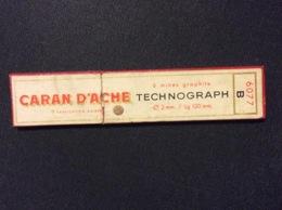 1 ETUI MINES GRAPHITE CARAN D'ACHE Technographe *B (6 MINES)  GRAPHITE LEADS - Autres Collections