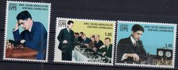 CHESS, 2018, CHESS LEGENDS, 130th ANNIVERSARY OF JOSÉ RAÚL CAPABLANCA,3v - Chess