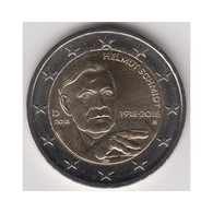 "Moneda 2€ 2018 Alemania ""Helmut Schmidt"" - Allemagne"
