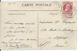 Zichtkaart Bouillon Met OCB 74 :afstempeling NOIREFONTAINE-SENSENRUTH - COBA 15 - 1905 Grosse Barbe