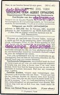Oorlog Guerre Guillaume Oppalfens Berlare Rijkswacht Gendarmerie  Gesneuveld In Bombardement Heist Aan Zee 17 Mei 1940 - Imágenes Religiosas