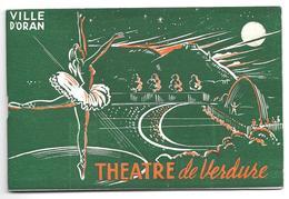 Programme THEATRE De VERDURE, Ville D'ORAN 1959 - Annie CORDY, NAMOUNA, RAPETTI, MARTINI - Programs
