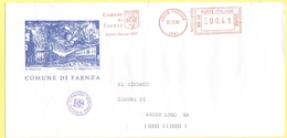 ITALIA - ITALY - ITALIE - 2002 - 00,41 EMA, Red Cancel - Comune Di Faenza - Viaggiata Da Faenza Per Lugo - Affrancature Meccaniche Rosse (EMA)
