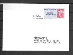 SEAGYL   2 Scans  Lettre Prioritaire Marianne De Beaujard *FRANCE*  509 - Entiers Postaux