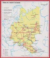Pétrole De La Russie Et Du Caucase. URSS. Encyclopédie De 1970. - Vieux Papiers