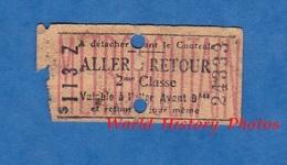 Ticket Ancien De Métro - S 113 Z  - 2ème Classe - ALLER RETOUR - Métropolitain - N° 24333 - Paris - Métro
