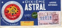 France - 154 - Dixième Astral Lion - 1966  29 ème Tranche Scorpion - Loterijbiljetten