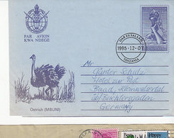 Zambia  Airmail Cover To Germany, Stamps Bird          (A-1500(Special-4)) - Zambèze
