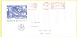 ITALIA - ITALY - ITALIE - 2002 - 00,41 EMA, Red Cancel - Comune Di Faenza - Viaggiata Da Faenza Per Lugo - Marcofilia - EMA ( Maquina De Huellas A Franquear)