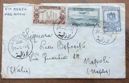 SIRYA  ENVELOPE COVER PAR AVION  FROM LATTAQUIE  LAODICEA  TO  NAPOLI  ITALY    THE 28/8/49 - Siria