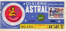 France - 155 - Dixième Astral Vierge - 1957  33 ème Tranche Scorpion - Loterijbiljetten