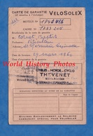 Carte Ancienne De Garantie - VELOSOLEX - 29 Mars 1960 - Cachet Cycle Moto THEVENET à Saint Germain Lespinasse - Automobile