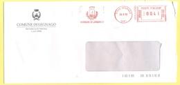 ITALIA - ITALY - ITALIE - 2002 - 00,41 EMA, Red Cancel - Comune Di Legnago - Viaggiata Da Legnago - Affrancature Meccaniche Rosse (EMA)