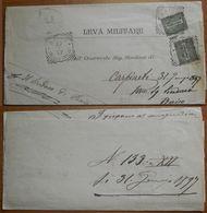 Parte Di Piego 1897 Affr. Con 2X1 Cent Da Baiso (Reggio Emilia) Per Carpineto - Storia Postale