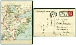 CARTOLINA - V8819 ITALIA REGNO 1937 Cartolina Cartina Africa Orientale, Ed. De Agostini, Dopolavoro Ital Raion, FG, - Cartoline