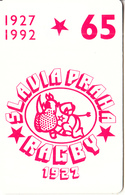 CZECHOSLOVAKIA(chip) - Slavia Praha Rugby 1927, Chip SC5, Tirage 30500, 05/92, Used - Czechoslovakia