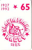 CZECHOSLOVAKIA(chip) - Slavia Praha Rugby 1927, Chip SC5, CN : 39539, Tirage %30500, 05/92, Used - Tchécoslovaquie