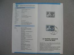 Régies Des Postes Belges Emission D'un Timbre-poste Spécial  N° 8 1985  - Le Maître-Graveur Jean De Bast - Documents Of Postal Services