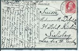 Fantasiekaart Met OCB 74 - Afstempeling WESTENDE Type 3R - COBA 8 - 1905 Grosse Barbe