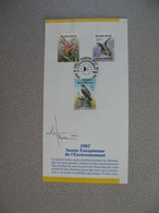 Régies Des Postes Belges 1987  Année Européenne De L' Environnement - Documents Of Postal Services