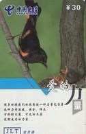TARJETA TELEFONICA DE CHINA. AVES - BIRDS. MY-JLT-2004-9-36-(4-4). (642). - Pájaros